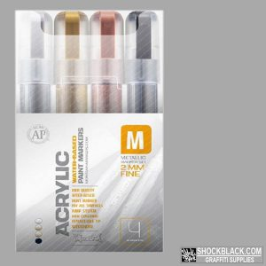 Montana Acrylic set Metallic Marker 4er 2mm EAN4048500385988
