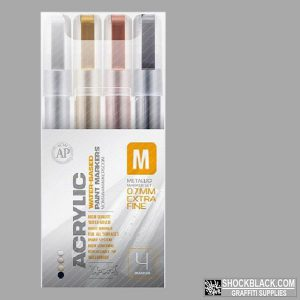 Montana Acrylic set Metallic Marker 4er 0.7mm EAN4048500385940