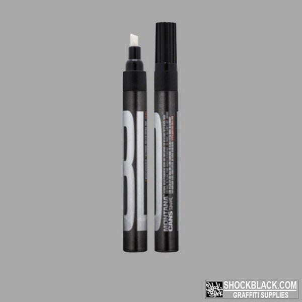 BOLD Ultra Black Ink Marker Montana CHISEL TIP 3mm Black EAN4048500468308