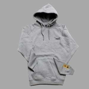 MONTANA LOGO HOODY SMALL LOGO GREY HEATHER/WHITE XXL de laatste