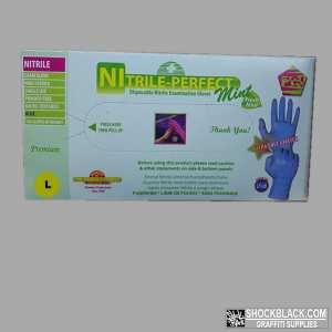 Nitril Handschoen Blauw maat L doos 100st 530039