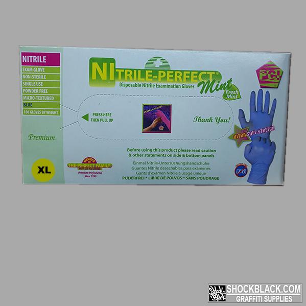 Nitril Handschoen Blauw maat XL doos 100st 530053